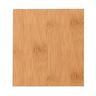 タケトーストの木製の穀物の一見 ノートパッド