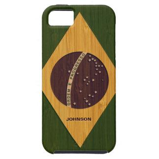 タケ一見及びヴィンテージのブラジルの刻まれた旗 iPhone SE/5/5s ケース