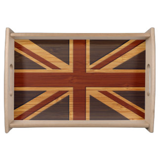 タケ一見及び刻まれたヴィンテージのイギリスの旗の英国国旗 トレー