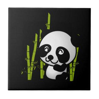 タケ果樹園のかわいい白黒パンダくま タイル