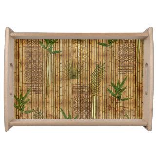 タケ樹皮布の布 トレー