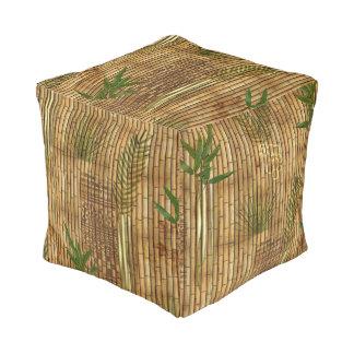 タケ樹皮布の布 プーフ