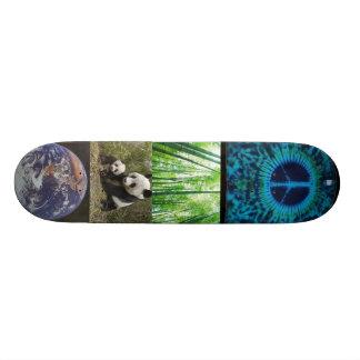 タケ、パンダくまd、地球、cust平和 スケートボード