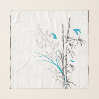 タケnの鳥の水 スカーフ