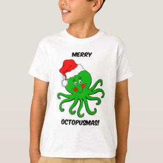 タコのクリスマス Tシャツ