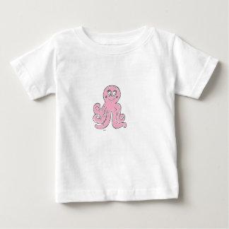 タコのデザイン ベビーTシャツ