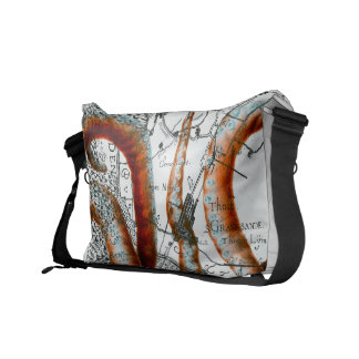 タコのヴィンテージの地図 メッセンジャーバッグ