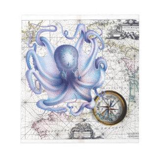 タコの地図Nautica ノートパッド