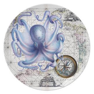 タコの地図Nautica プレート