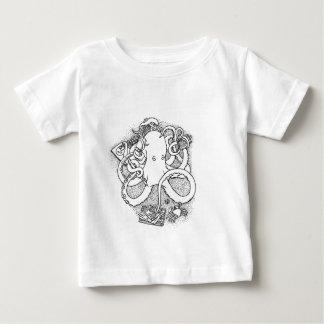 タコの多重タスク処理 ベビーTシャツ
