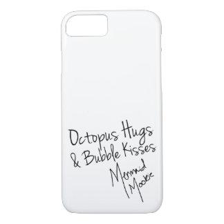 タコの抱擁及び泡キスは場合をサインしました iPhone 8/7ケース