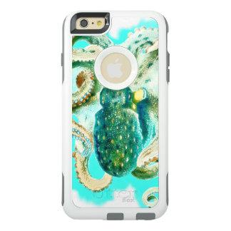 タコの水彩画のティール(緑がかった色) オッターボックスiPhone 6/6S PLUSケース