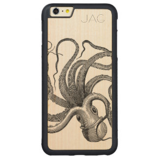 タコの海底世界 CarvedメープルiPhone 6 PLUSバンパーケース