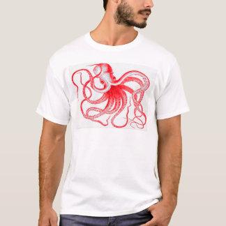 タコの航海のなSteampunkのヴィンテージのKrakenモンスター Tシャツ