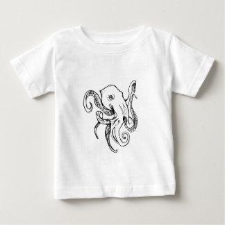 タコの黒 ベビーTシャツ