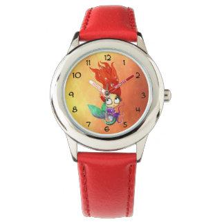 タコを持つ気味悪い人魚 腕時計