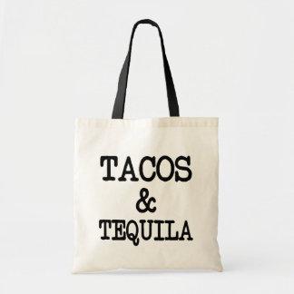 タコスおよびテキーラのおもしろいな女性のバッグ トートバッグ