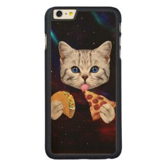 タコスおよびピザを持つ宇宙猫 CarvedメープルiPhone 6 PLUS スリムケース