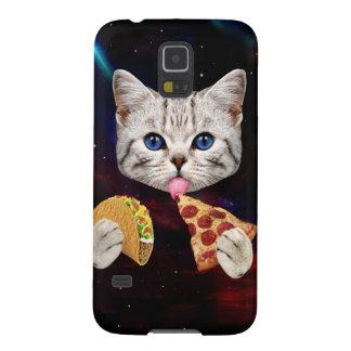 タコスおよびピザを持つ宇宙猫 GALAXY S5 ケース