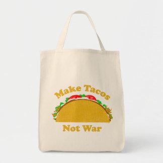 タコスない戦争をして下さい トートバッグ