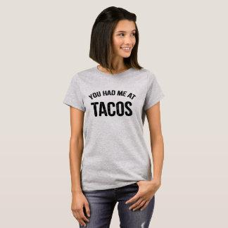 タコスのおもしろいな引用文で私がありました Tシャツ