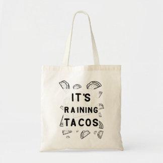 タコスのトートを雨が降っています トートバッグ