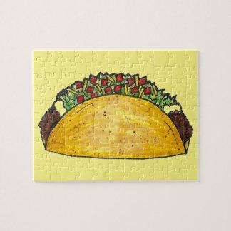 タコスのプリントのメキシコ食糧タコスのグルメのパズル ジグソーパズル