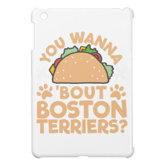 タコスの一続きのボストンテリアにほしいですか。 iPad MINI カバー