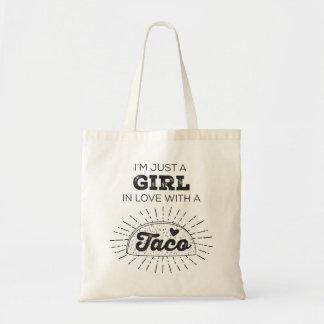 タコスの女の子のトートバック トートバッグ