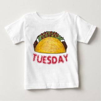 タコスの火曜日のメキシコ人のTex Mexの食糧タコスのグルメ ベビーTシャツ