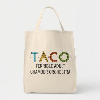 タコスの食料雑貨の戦闘状況表示板 トートバッグ