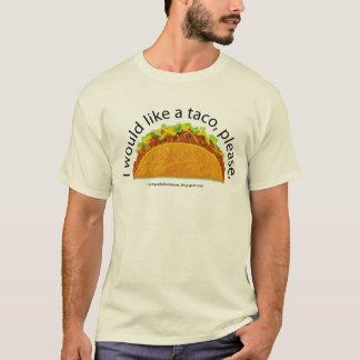 タコスのTシャツ Tシャツ