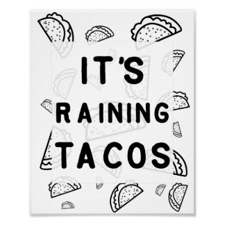 タコスポスターを雨が降っています ポスター