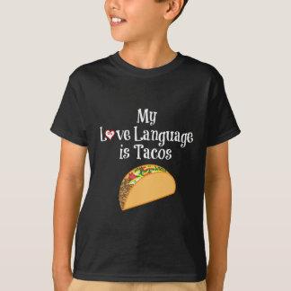 タコス愛言語ティー Tシャツ