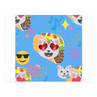 タコス猫のemoji ポストカード