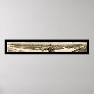 タコマ市のWAの潮平たい箱の写真1919年 ポスター