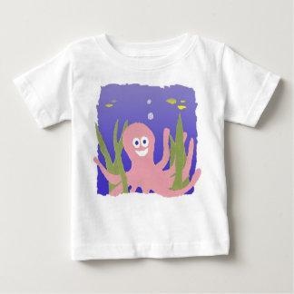 """""""タコ""""のベビーのワイシャツ ベビーTシャツ"""