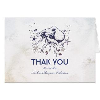 タコ-航海のな結婚式は感謝していしています カード