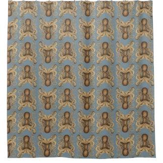 タコMarmoratus (青い) シャワーカーテン