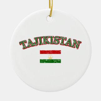 タジキスタンのフットボールのデザイン セラミックオーナメント