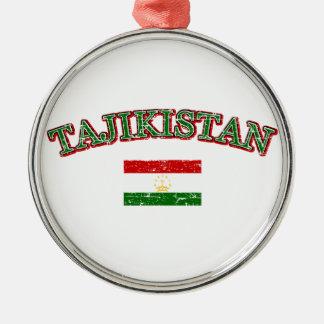 タジキスタンのフットボールのデザイン メタルオーナメント