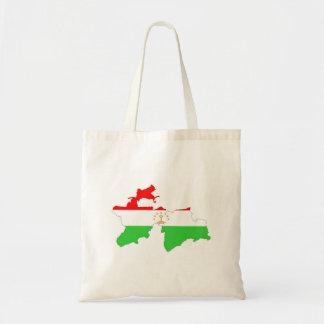 タジキスタンの国旗の地図の形の記号 トートバッグ