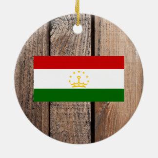 タジキスタンの国旗 セラミックオーナメント
