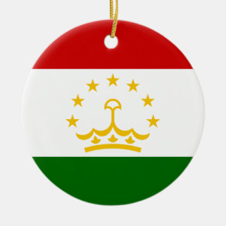 タジキスタンの国民の世界の旗 セラミックオーナメント