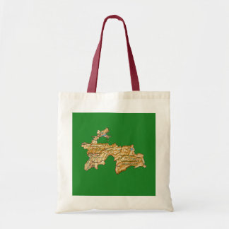 タジキスタンの地図のバッグ トートバッグ