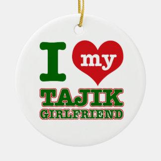 タジキスタンの妻 セラミックオーナメント