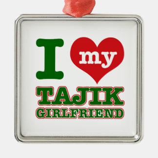 タジキスタンの妻 メタルオーナメント