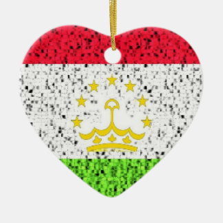 タジキスタンの旗のグリッターのオーナメント セラミックオーナメント