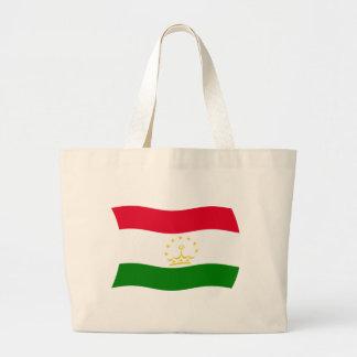 タジキスタンの旗のトートバック ラージトートバッグ