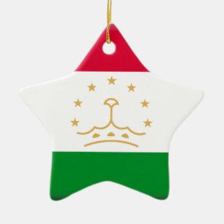 タジキスタンの旗 セラミックオーナメント